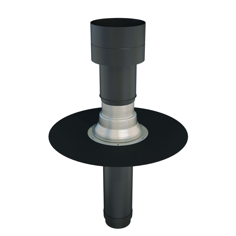 Ubbink OFT-5 Insulated Flat Roof Vent Terminal For EPDM - 125mm