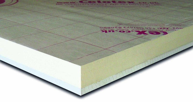 Celotex PL4050 62.5mm Insulated Plasterboard 1.2m x 2.4m - Mammoth Roofing