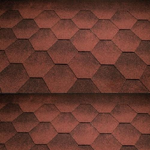 Katepal Super Jazzy Hexagonal Felt Roofing Shingles (3m2) - Red - Mammoth Roofing