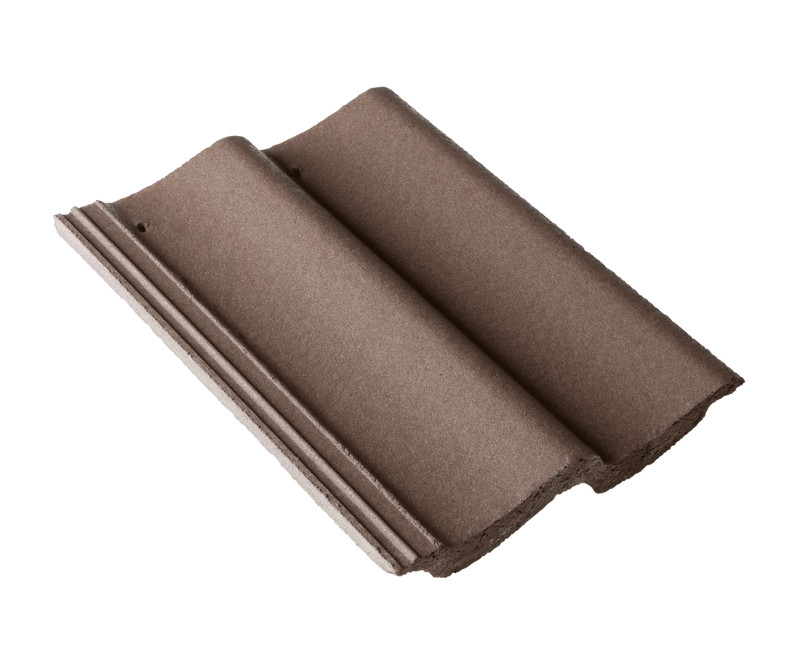 Russell Pennine Concrete Roof Tile - Peat Brown