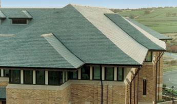 Sobrano Brazilian Grey/Green Natural Roof Slate and a Half 600mm x 450mm