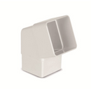 Plastic Guttering 65mm Square Down Pipe Bend 112° - White - Mammoth Roofing