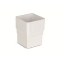Plastic Guttering 65mm Square Pipe Socket - White