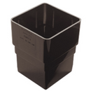 Plastic Guttering 65mm Square Pipe Socket - Black - Mammoth Roofing