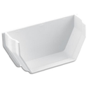 Plastic Guttering 114mm Square-Line Internal Stop End - White