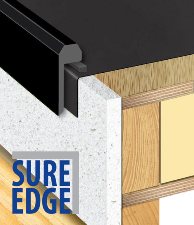 Sure Edge Black Kerb Trim - 2.5m - Mammoth Roofing