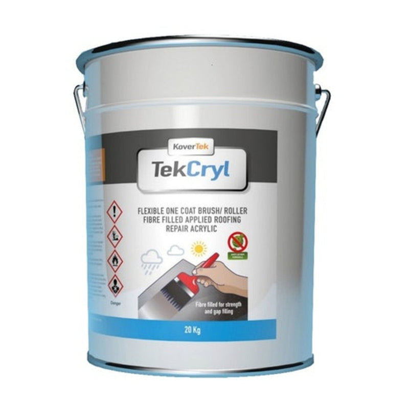 KoverTek TekCryl Acrylic Roof Repair System 10kg - Grey