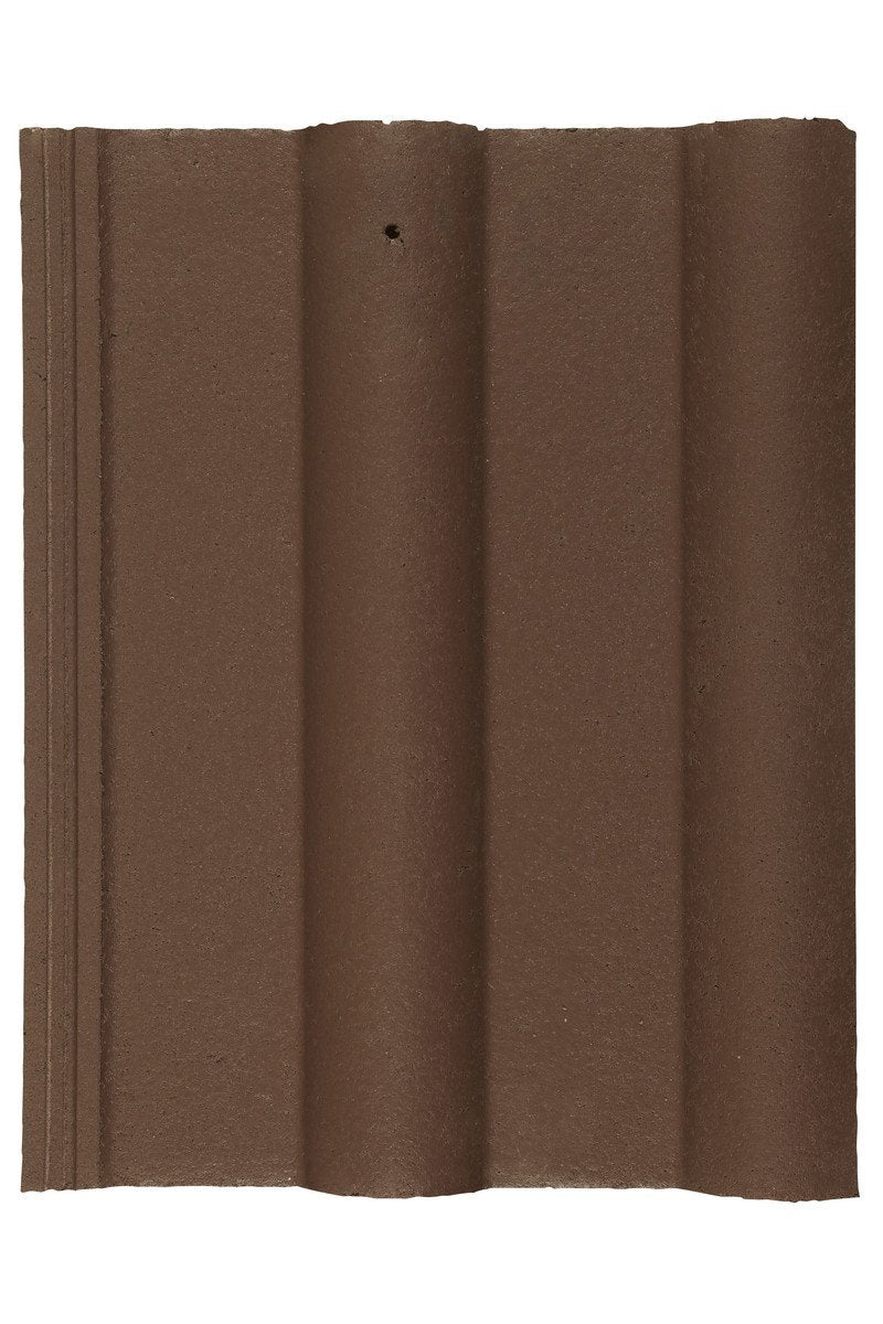 Marley Double Roman Interlocking Concrete Roof Tile - Smooth Brown - Mammoth Roofing