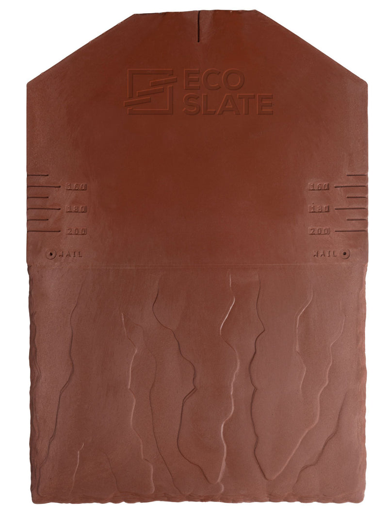 Eco Slate Roof Tile - Old World Red (Pack of 34) - Mammoth Roofing