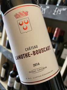 Chateau Lamothe Bouscaut Rouge 2016 75cl