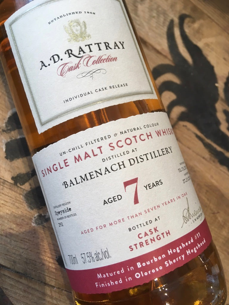AD Rattray Balmenach 2010 7 Year Old 70cl