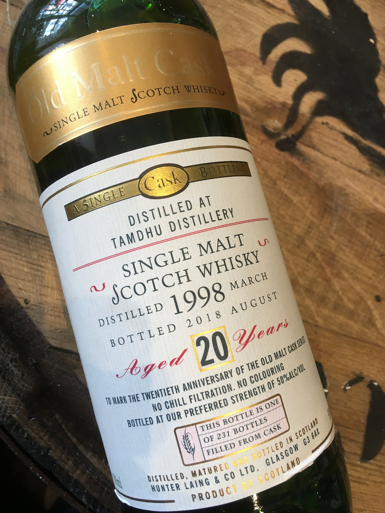 Hunter Laing Old Malt Cask 20th Anniversary Bottling Tamdhu 20 Year Old 70cl