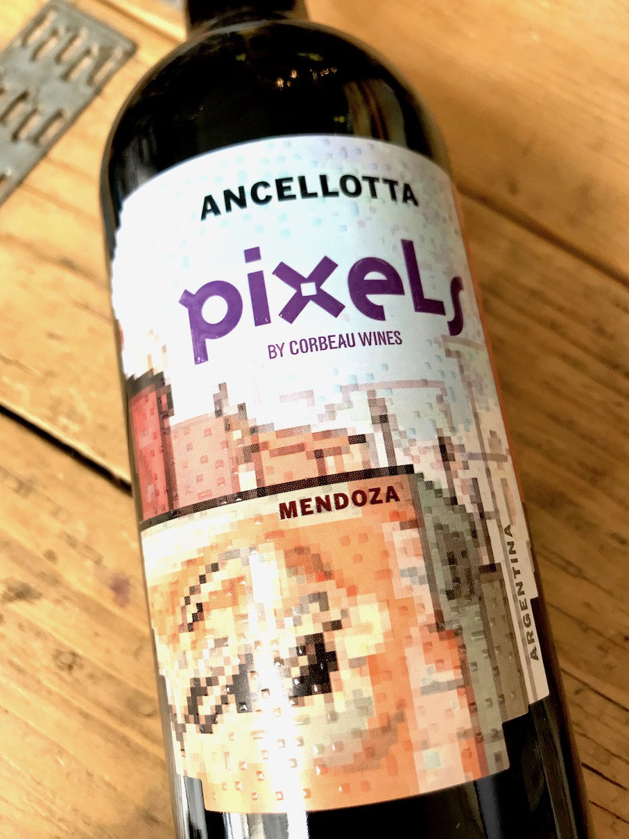 Pixels by Corbeau Wines Ancellotta 2017 75cl