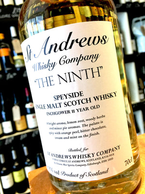 St Andrews Whisky Company 'The Ninth' Inchgower 11 Year Old 70cl