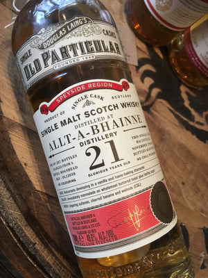 Douglas Laing Allt-a-Bhainne Old Particular 1995 21 Year Old 70cl