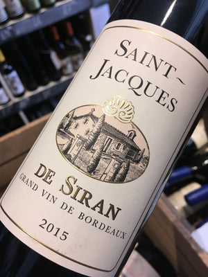 Saint Jacques de Siran 2015 75cl