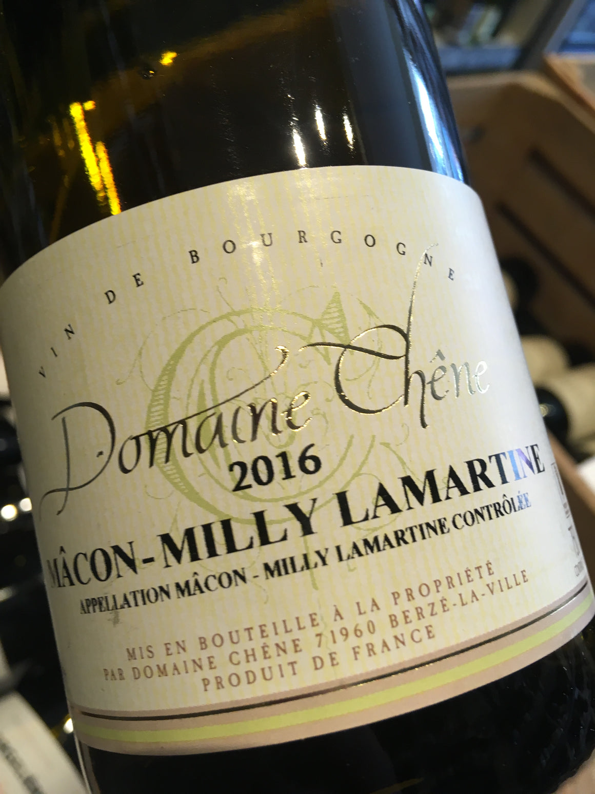 Domaine Chene Macon-Milly Lamartine 2017 75cl