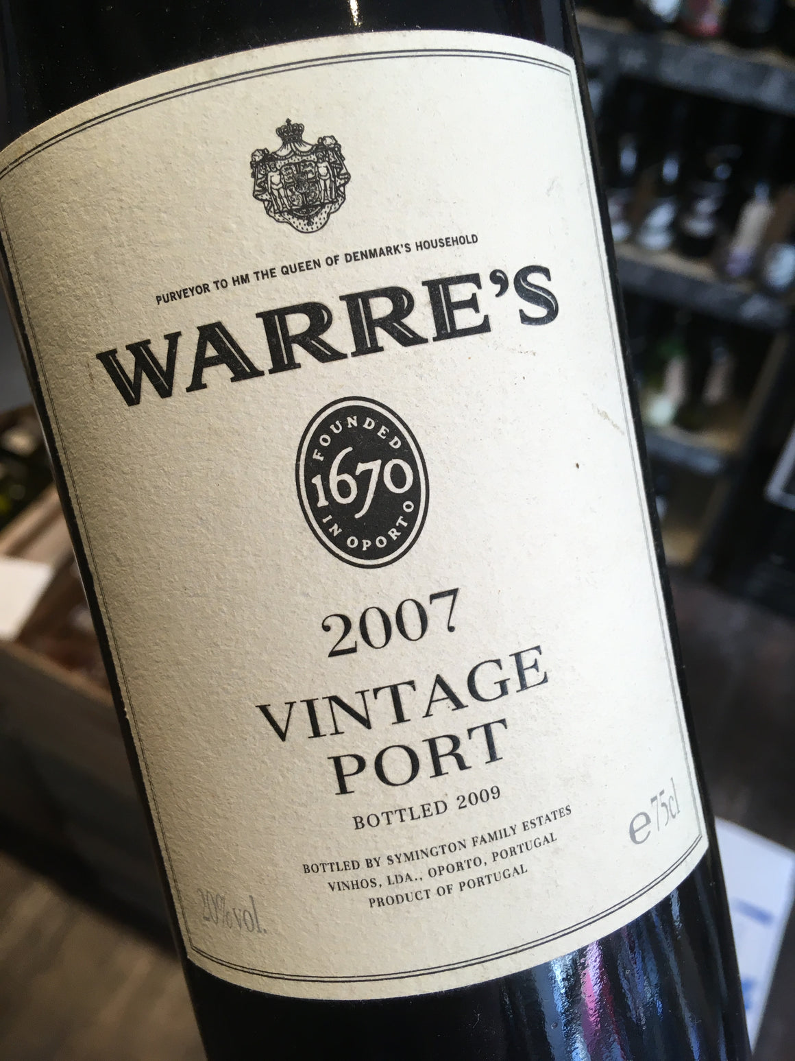 Warre's Vintage Port 2007 75cl