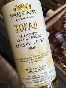 Tokaj Classic Winery Late Harvest Tokaji 2009 50cl