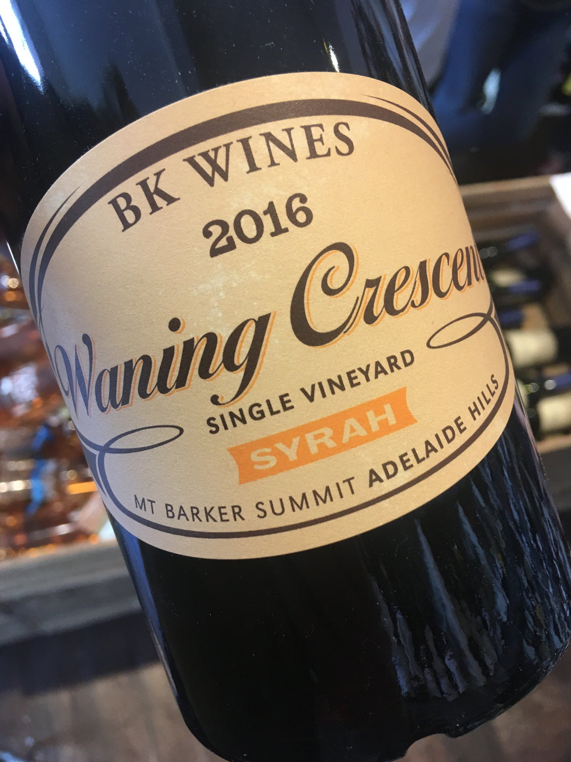 BK Wines Waning Crescent Single Vineyard Syrah 2016 75cl