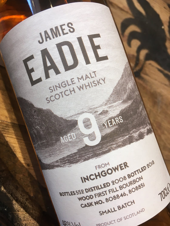 James Eadie Inchgower 9 Year Old 70cl