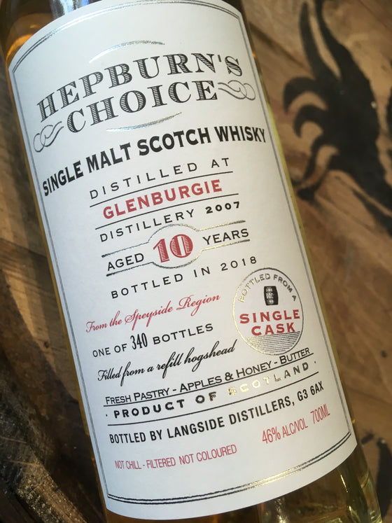 Hunter Laing Hepburn's Choice Glenburgie 2007 70cl