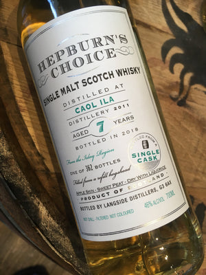 Hunter Laing Hepburn's Choice Caol Ila 7 Year Old