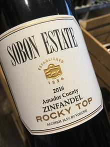 Sobon Estate Rocky Top Amador County Zinfandel 2013 75cl