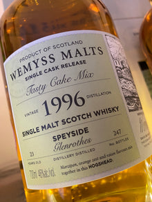 Wemyss Malts Glenrothes 1996 'Tasty Cake Mix' 70cl