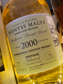 Wemyss Malts Linkwood 2000 'Gardeners Biscuit Break' 70cl