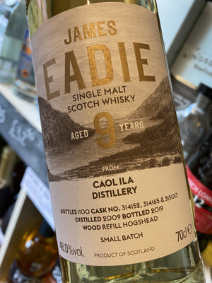 James Eadie Caol Ila 9 Year Old 70cl