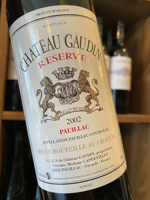 Chateau Gaudin 2002 75cl