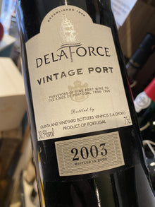 Delaforce Vintage Port 2003 75cl
