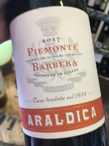 Araldica Barbera 2017 75cl