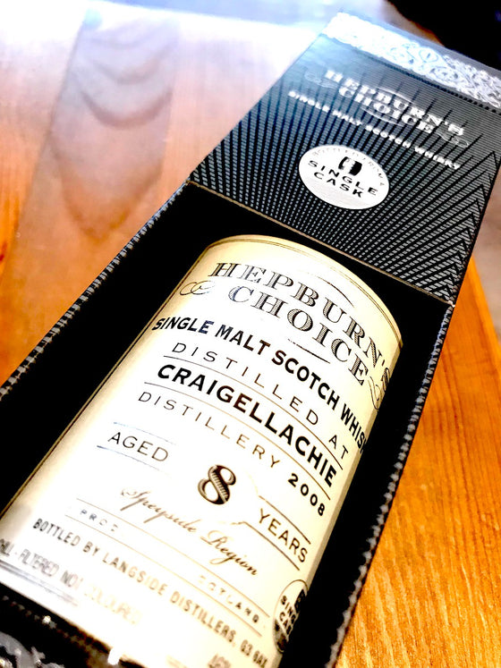 Hunter Laing Hepburn's Choice Craigellachie 8 Year Old 20cl