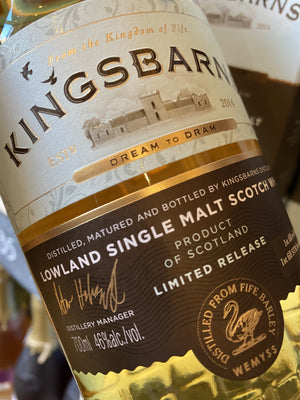 Kingsbarns Distillery Dream to Dram Single Malt Whisky 70cl