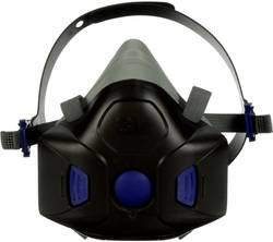 3M HF-802 Secure Click Half Facepiece Reusable Respirator Size Medium