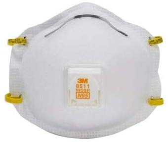 3M 8511 respirator N95 cool flow valve (2 pack)