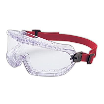 Honeywell 11250800 Uvex V-Maxx Wrap-Around Goggles with Pivoting Headstrap, Standard, Clear