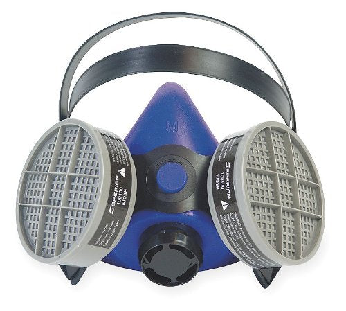 "Honeywell B250000 Survivair Small Blue Silicone SURVIVAIR 2000 Half Mask S-Series Facepiece, English, 15.34 fl. oz, Plastic, 1"" x 1"" x 1"""