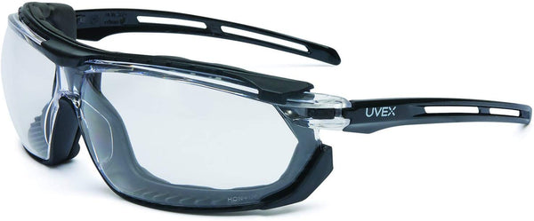 UVEX by Honeywell S4040 Tirade Sealed Safety Eyewear with Black Frame, Clear Lens and Uvextra Anti-Fog Coating