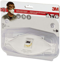 3M 9332+ Flat Fold Particulate Respirator - White, EN safety certified