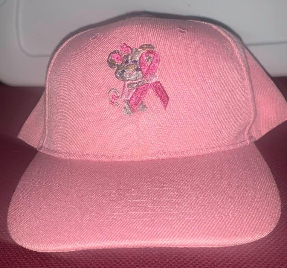 Cancer Mouse Pink Baseball Cap Embroidered - EH Patches