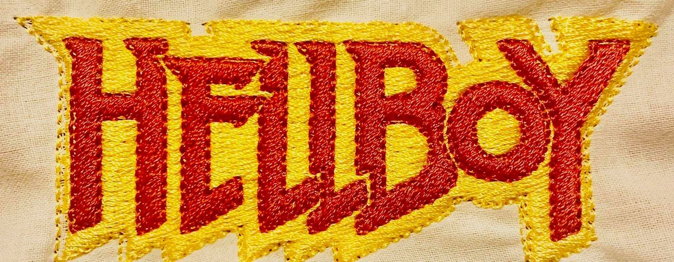 Hellboy Red and Yellow Embroidered Patch - EH Patches
