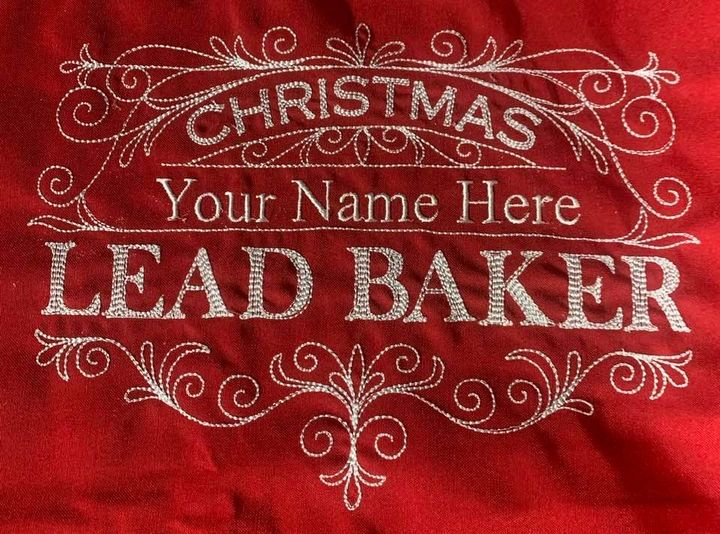 Personalized Christmas Cookie Crew Lead Baker Apron