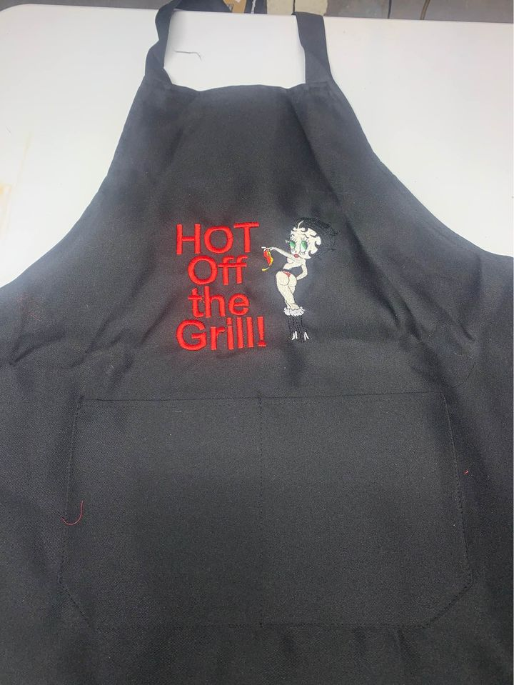 Betty Boop Hot off the Grill Black Apron