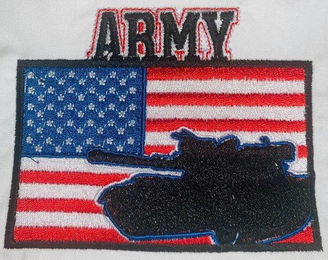Army Iron On Patch