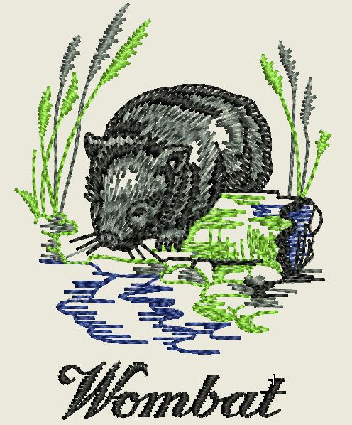 Wombat Embroidered Iron On Patch - EH Patches