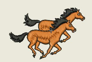 Two Racing Horses Embroider Patch - EH Patches
