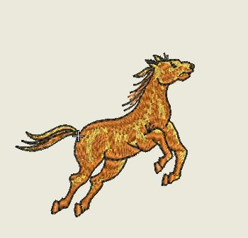 Rearing Up Tan Horse Embroider Patch - EH Patches